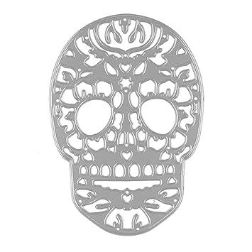 Gosear Troqueles Scrapbooking Hojas - Halloween cráneo Repujado Corte Matrices Plantillas Molde para Bricolaje Scrapbooking álbum de Papel Tarjeta: ...
