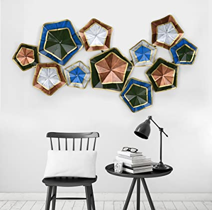 Groovy Collectible India Metal Multicolor Stars Wall Mounted Art 3D Decorative Hanging Sculpture Size 25 X 44 Inches Complete Home Design Collection Barbaintelli Responsecom