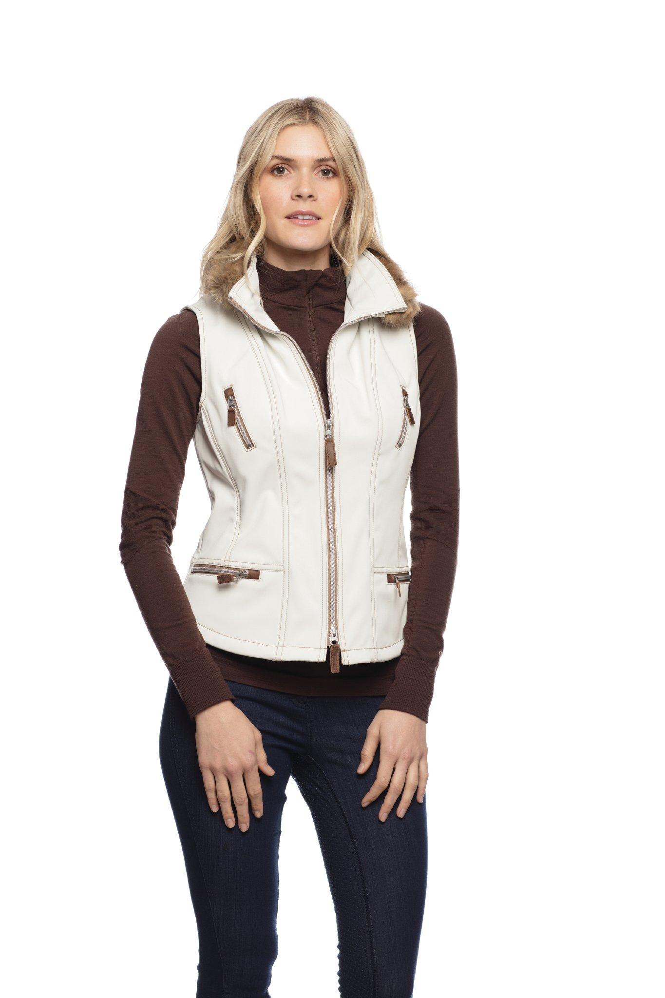 Goode Rider In Style Vest Winter White S