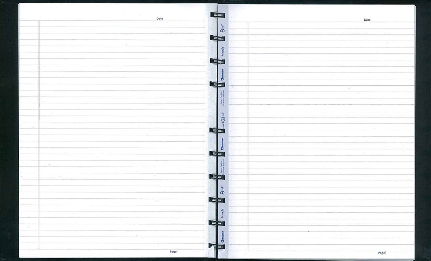 Blueline MiracleBind Notebook, Black, 9.25 x 7.25 inches, 150 Pages (AF9150.44)