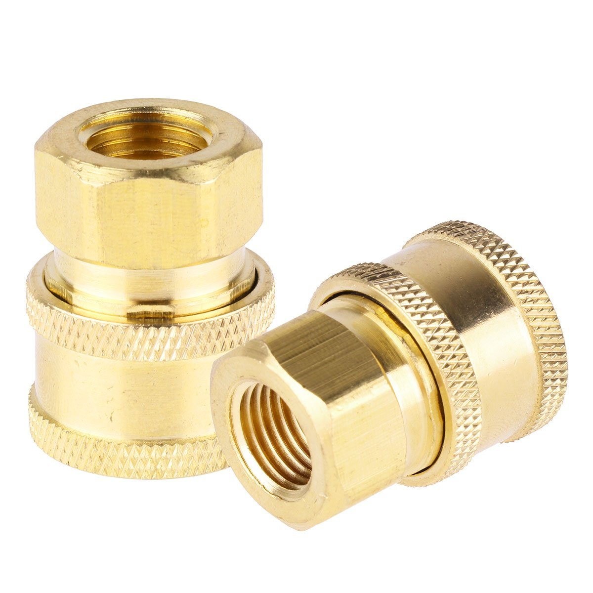 CHICTRY 2 Pack Pressure Washer Accessories Brass Quick 1/4 Inch Female NPT Coupler Fittings Max 5000 PSI