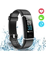 AUSUN Fitness Tracker, 130C Color Screen Activity Tracker with IP68 Waterproof, 14 Sports Modes, GPS tracker, Intelligent Notification, Pedometer Watch for Kids Men Women