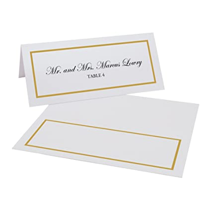 0d014c45ab4da Documents and Designs Single Line Border Easy Print Place Cards (Select  Color Quantity)