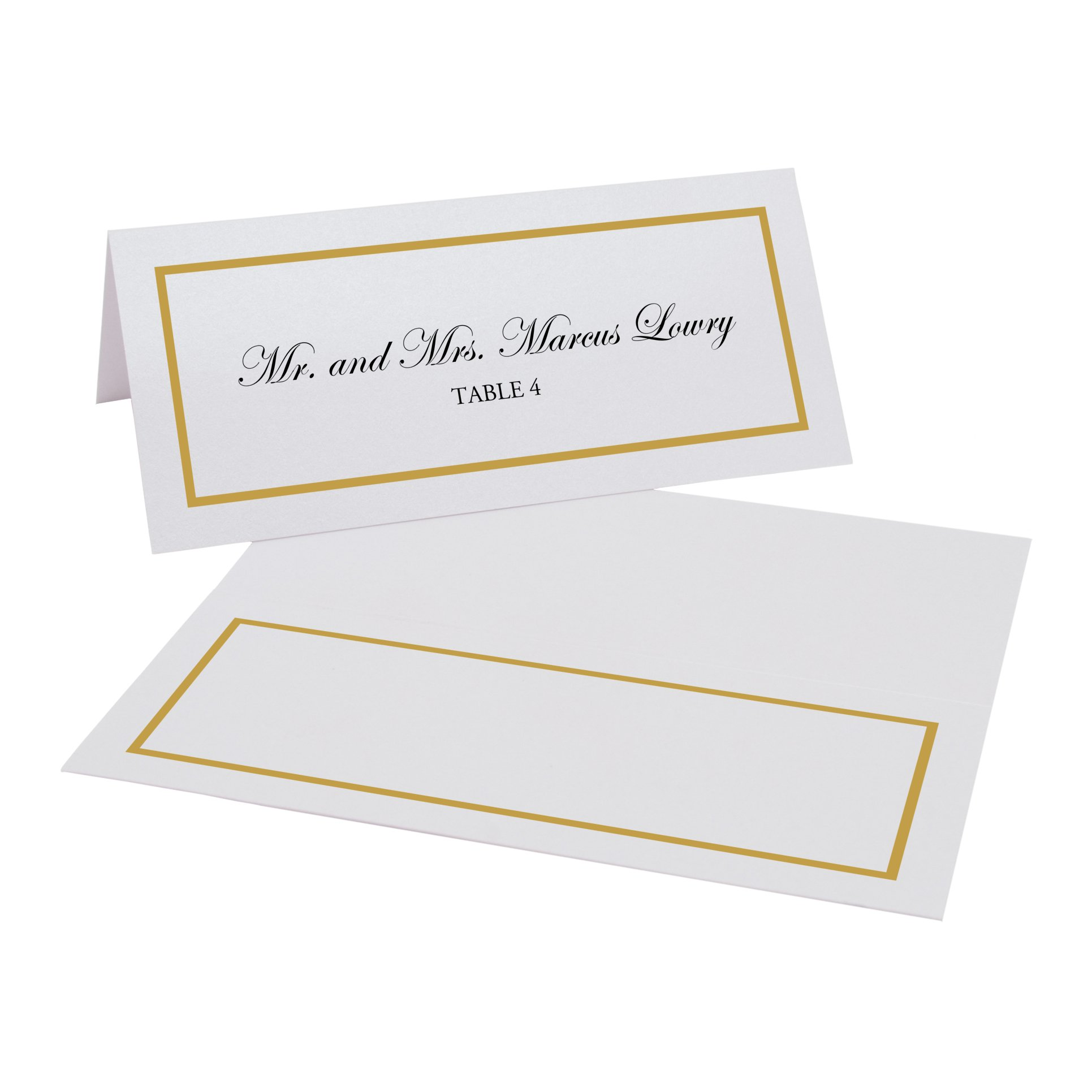 Documents and Designs Single Line Border Easy Print Place Cards, Gold, Set of 150 (25 Sheets)