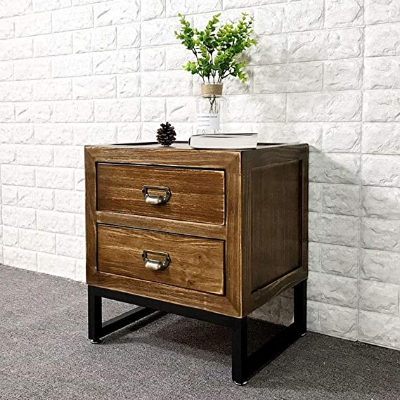 Amazon.com: Tables ZR- Bedside, Vintage Solid Wood Bedroom ...