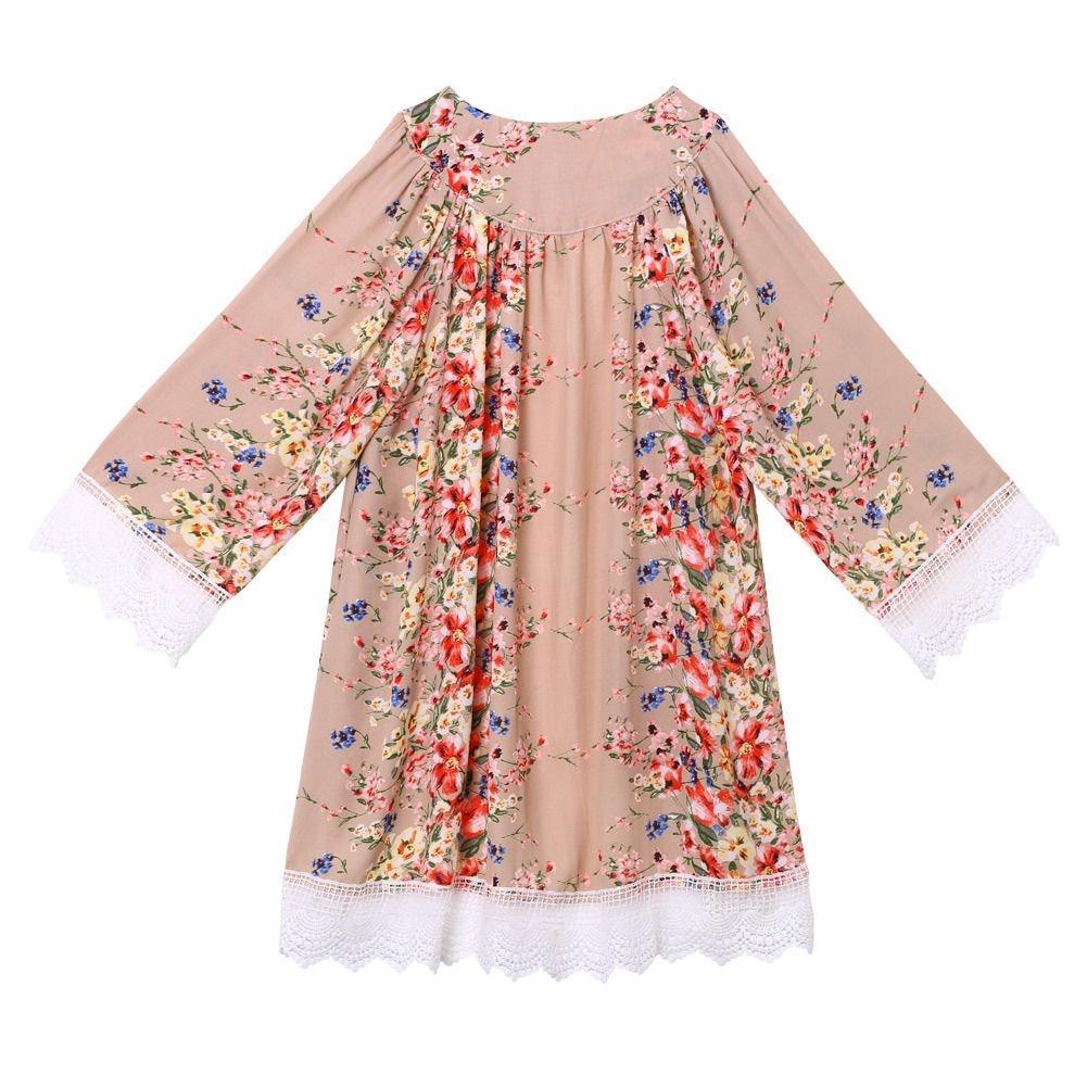 Froomer Women Vintage Floral Boho Shawl Kimono Cardigan Loose