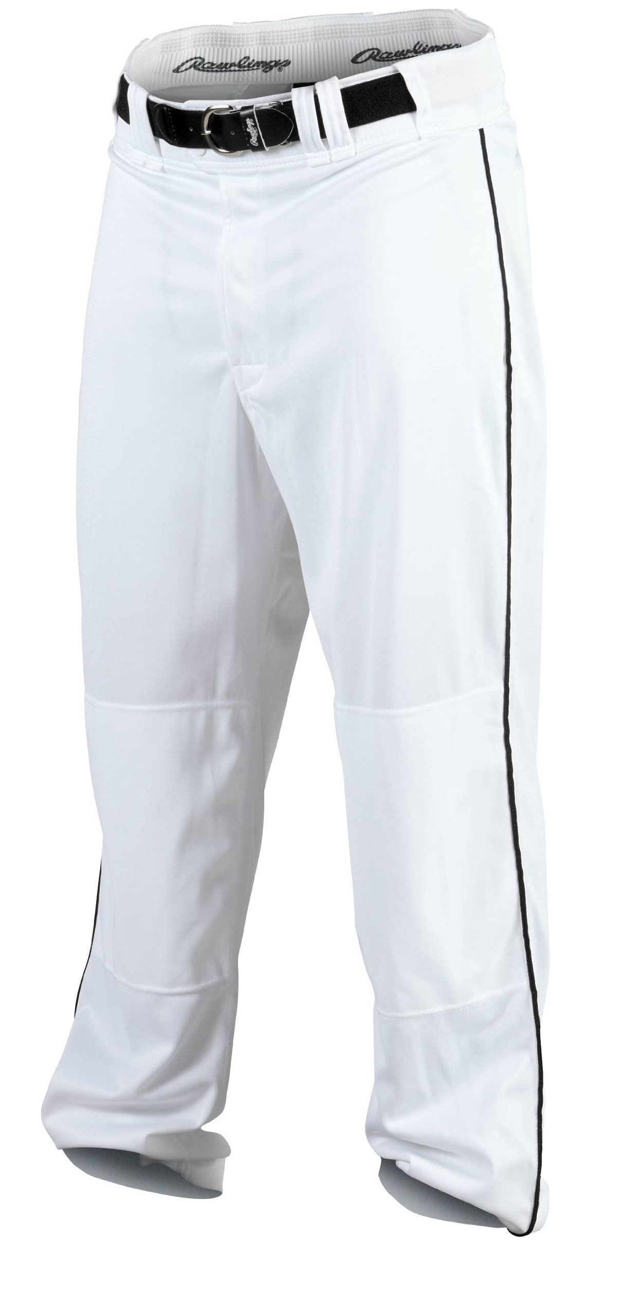Rawlings Youth Baseball Pant (White/Black, X-Large) by Rawlings