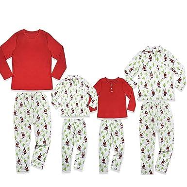 Christmas Matching Christmas Pajamas Set Santa Claus Christmas Pajama PJS  Tops Long Pants Set Family ( da945ad3b