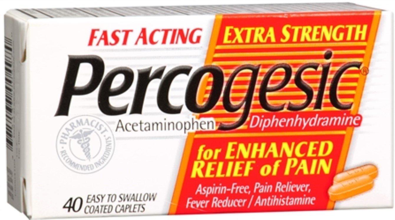 Percogesic Caplets Extra Strength 40 Caplets (Pack of 6)