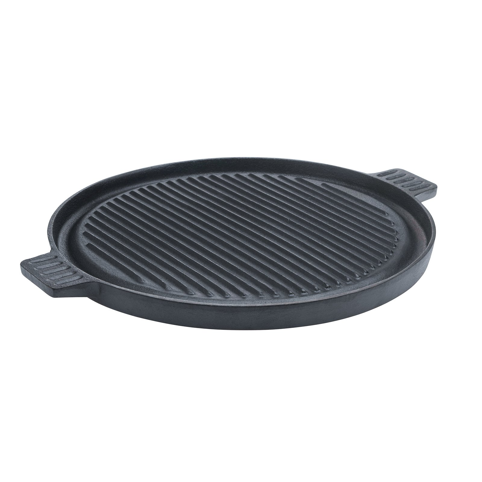 14'' Round Pre Seasoned Reversable Gril/Griddle With 2 Side Handles