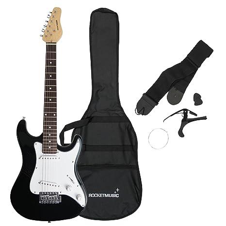 Rocket XF203CBK - Guitarra eléctrica tamaño 3/4