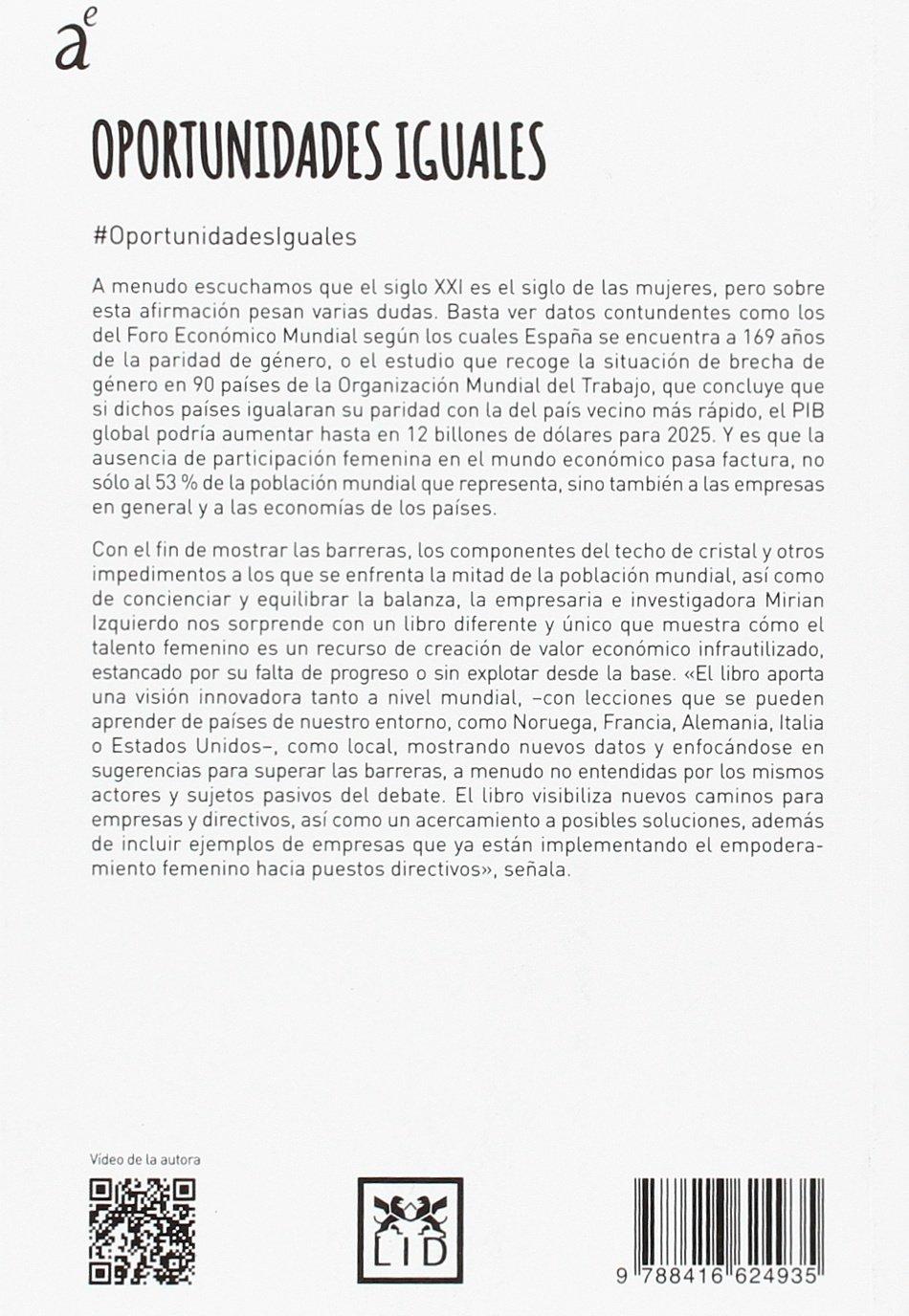 Oportunidades iguales (colección acción empresarial): Amazon.es: Mirian Izquierdo Barriuso: Libros