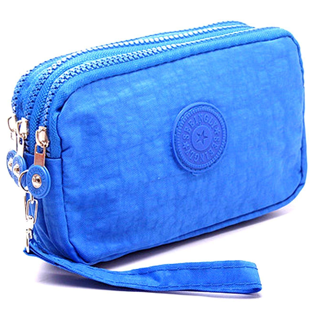 SAIANKE Multifunction Three Layer Zipper Closure Insert Handbag Sport Portable Organiser Purse Cash Key Phone Bag