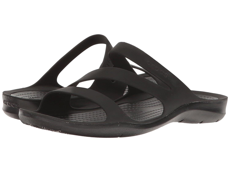 Crocs Women's Swiftwater Sandal B07BVDDTR7 8 M US|Black on Black