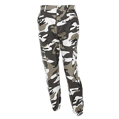 8ff904de490a Saoye Fashion Pantalon Militaire Femme Long Elégante Automne Outdoor  Pantalon Sport Loisir Pantalon Cargo Fille Vêtements