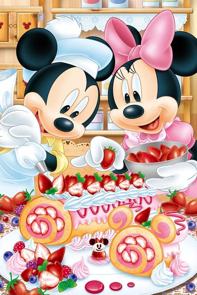 ディズニー ベリーベリー・ロールケーキ iPhone(640×960)壁紙画像