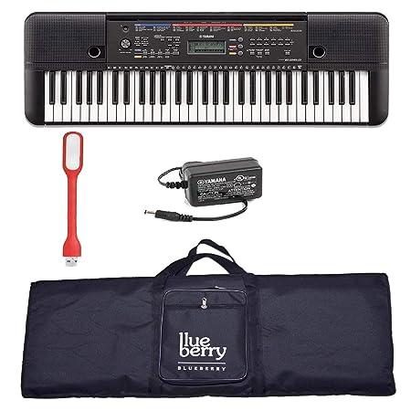 Blueberry Yamaha E 263 keyboard with Adapter   Blueberry Bag along with USB LED