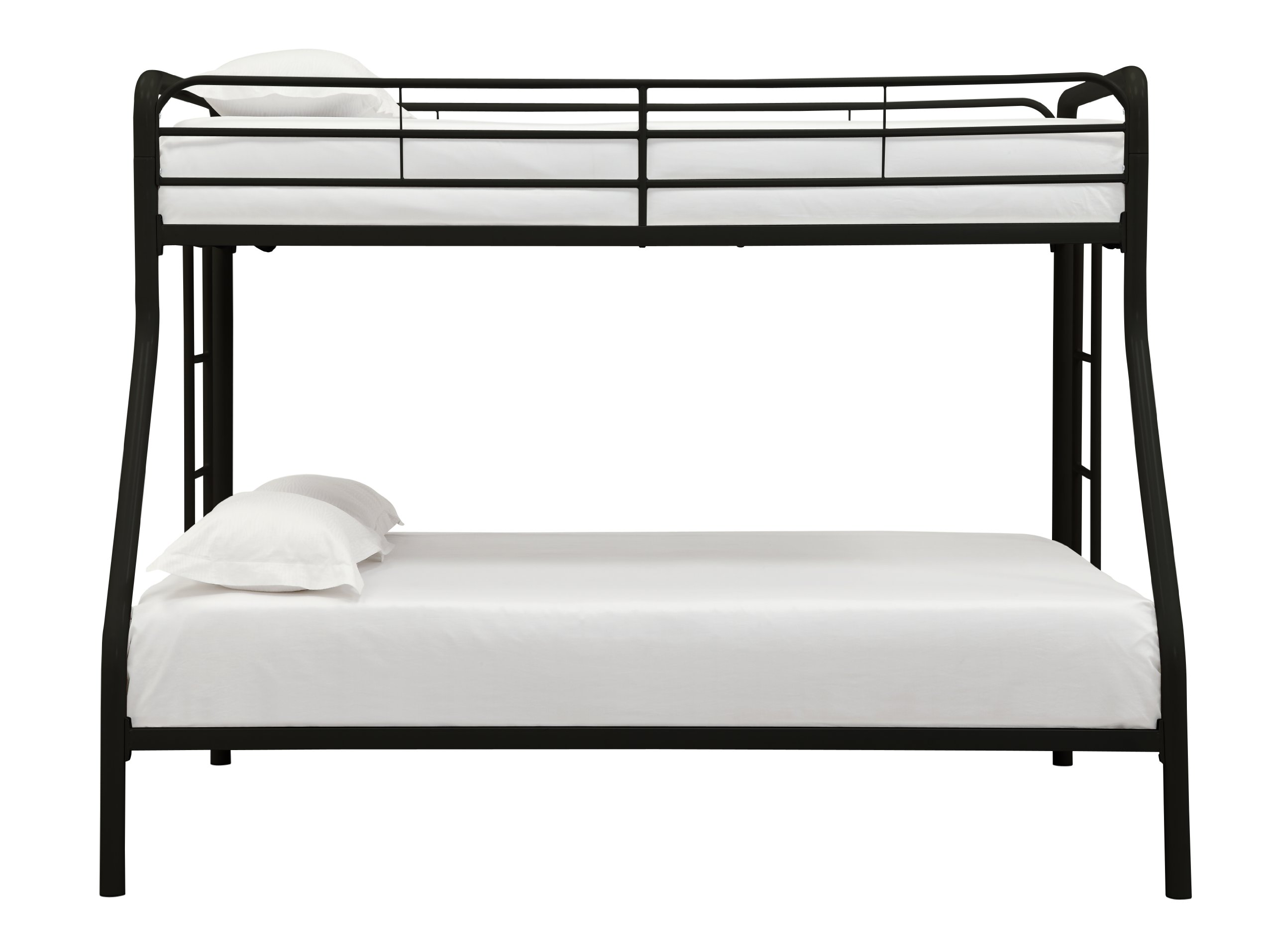 DHP Twin-Over-Full Bunk Bed with Metal Frame and Ladder, Space-Saving Design, Black by DHP (Image #4)