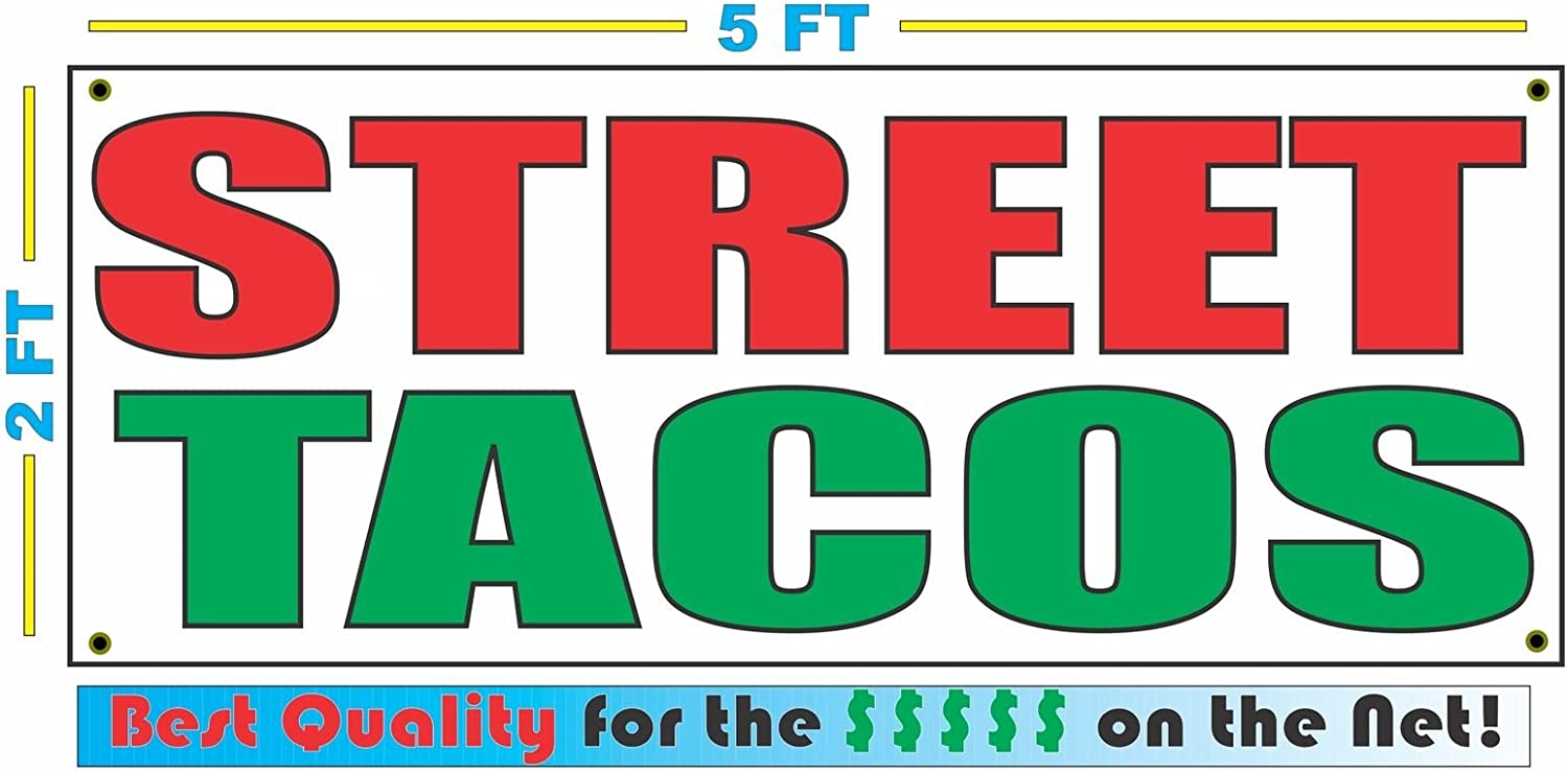 Street Tacos 2x5 Banner Sign