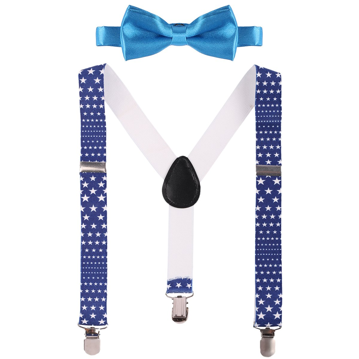 Baby Boys Adjustable Y Back Clip Suspenders Pre Tied Bowtie Set 1st/2nd Birthday Photo Wedding Party Outfits