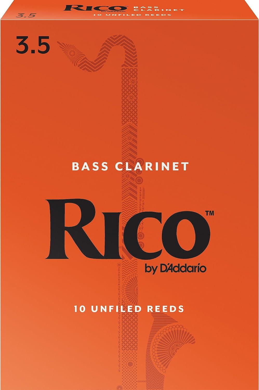 Rico Anches Rico Royal pour clarinette basse, force 2.0, pack de 10 D' Addario Ltd REA1020