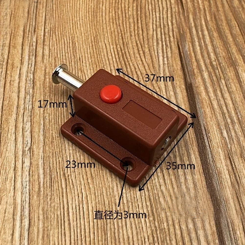 Armoire Placard Meuble Charge Ressort Automatique Bouton Poussoir Verrou 2p Automatique Boulon Porte Verrou