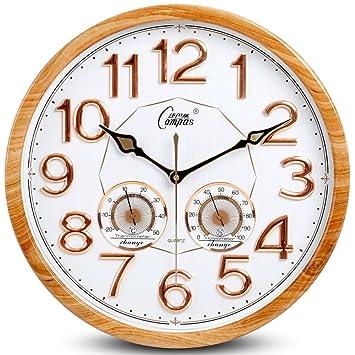 Amazon.de: 15-Zoll-europäischen Stil Wanduhren Wohnzimmer-Uhren ...