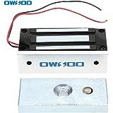 OWSOO Verrou Serrure Electromagnétique Electrique Magnétique pour Système de Contrôle Electroaimant d'Accès Porte Supportable de Force de 60KG 132lbs NC Mode