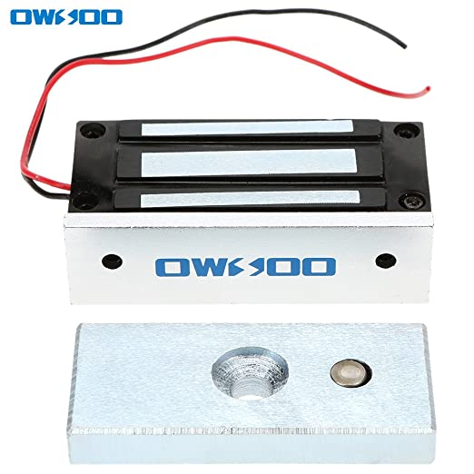 2 opinioni per OWSOO 60KG 132lbs Forza di Tenuta Elettrica Serratura Magnetica per Sistema di