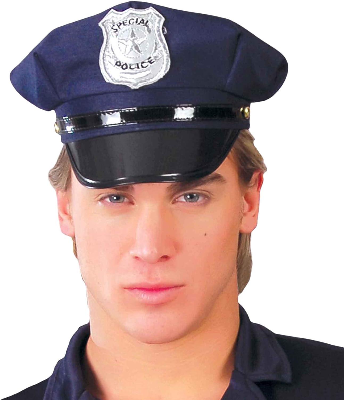 Gorro Sombrero Policia con Placa Special Police Talla Unica Azul Accesorio Disfraz Carnaval Halloween Fiesta: Amazon.es: Juguetes y juegos