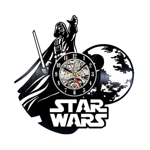 Hecho a mano de Star Wars Darth Vader reloj del disco de ...