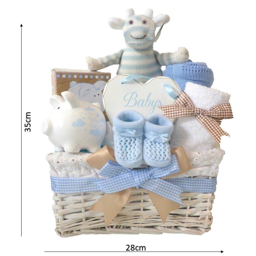Baby Jungen Geschenkkörbe blau/Neugeborene Baby Dusche Boy Geschenke ...