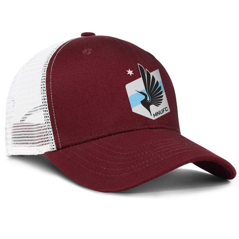 LiJiCai Unisex Minnesota-Cool-United-FC-Logo One Size Cowboy Hat Superlite Trucker Cap Snapback Hat Football Hats