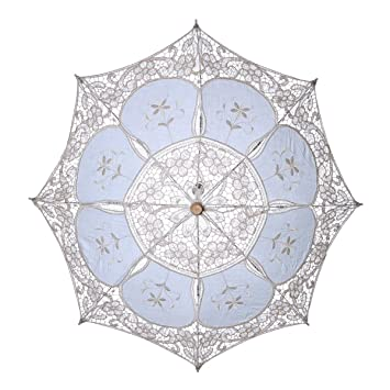 LUOEM Paraguas de la boda del paraguas del parasol Novia de la boda Paraguas paraguas blanco