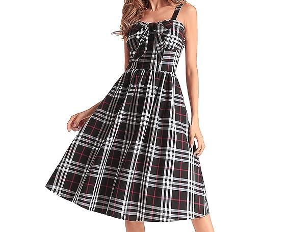 Promociones Verano nuevos europeos y americanos Hepburn Gran Vestido at Amazon Womens Clothing store: