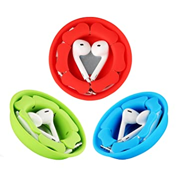 Earbud Holder Cord Wrapper Organizer,Tangle Free Silicone Magnetic Case