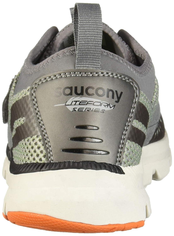 Stone 065 Wide US Big Kid Saucony Boys Liteform Stretch /& Go A//C Sneaker