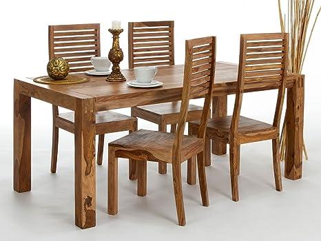 Tavolo 180 x 90 e 4 sedie Torino in palissandro: Amazon.it: Casa e ...