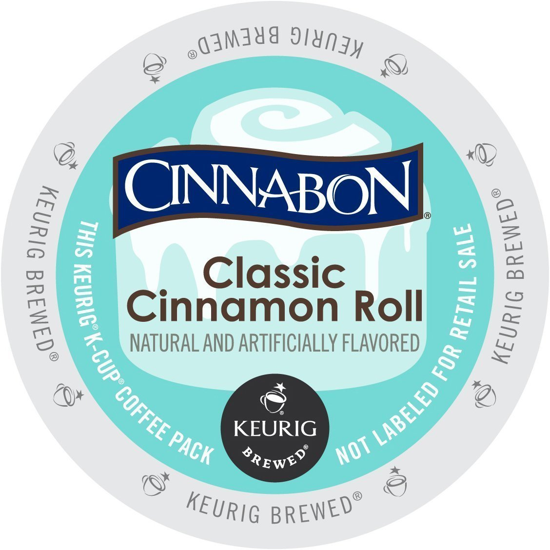 Cinnabon Classic Cinnamon Roll K-Cup Coffee (96 count) by Cinnabon