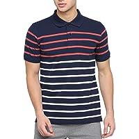 BULLMER Men's Half Sleeves Free Size Cotton Polo Tshirt