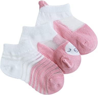 3 Pack Baby Cotton Socks Long 0-36 Months Boys Girls Cartoon Animal Calf Socks Casual Home Breathable Comfortable