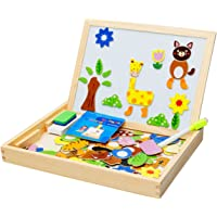 Jack Royal Wooden Magnetic Puzzle Drawing Board (Black/White)