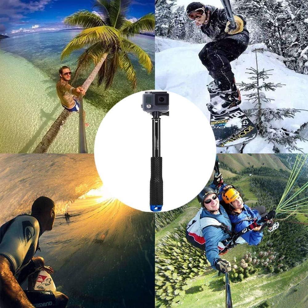 Selfie Stick f/ür GoPro Tauchen f/ür Surfen 49CM ActionCam Stick Erweiterbar Self Portrait Wasserdicht Einbeinstativ f/ür Garmin Virb