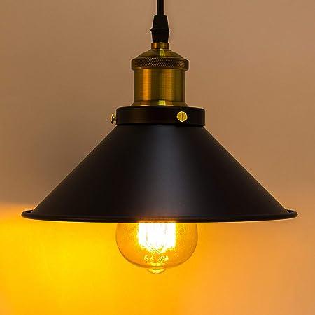 Métal Retro Suspensions Luminaires Industrielle Vintage