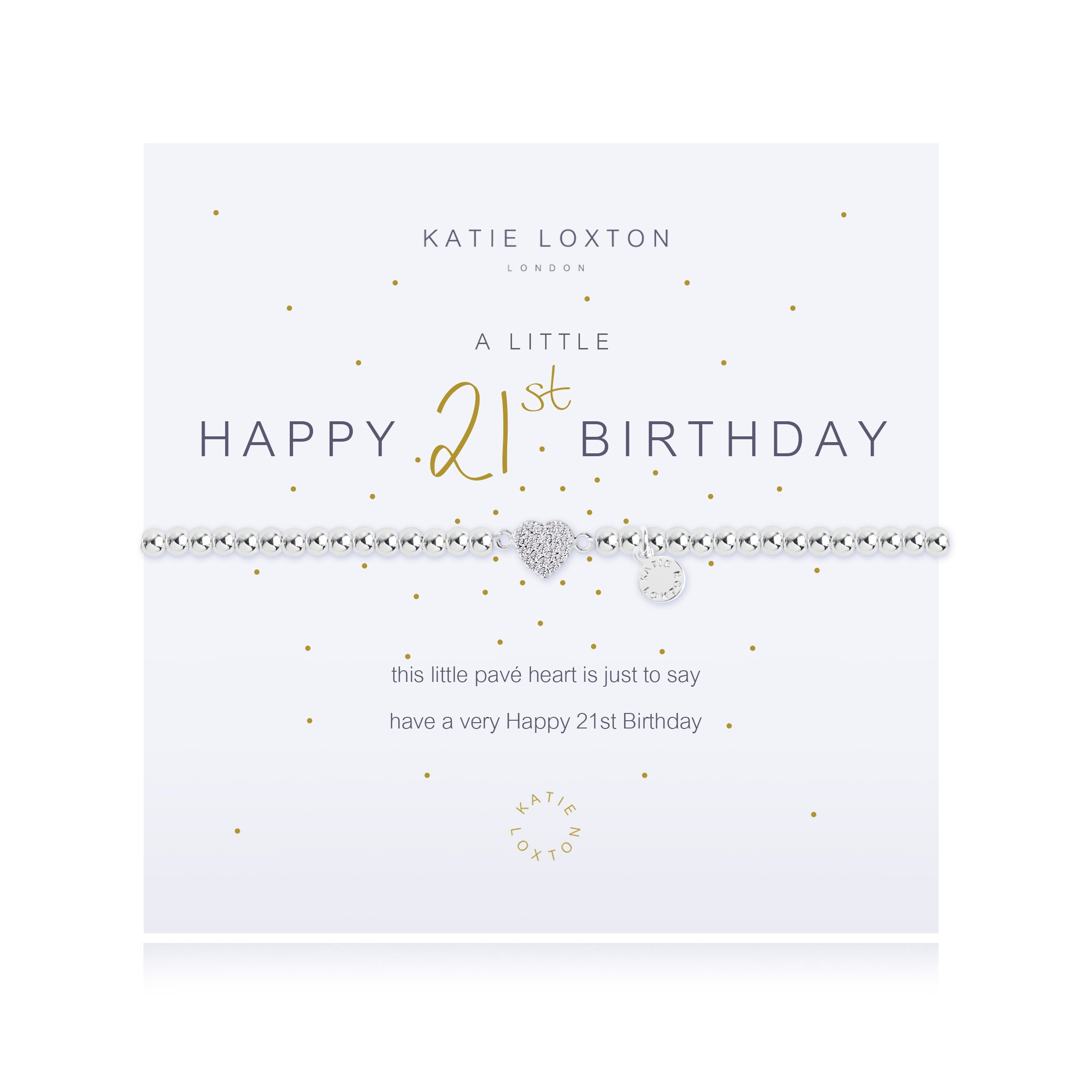 Katie Loxton - A Little Happy 21st - Silver Bracelet