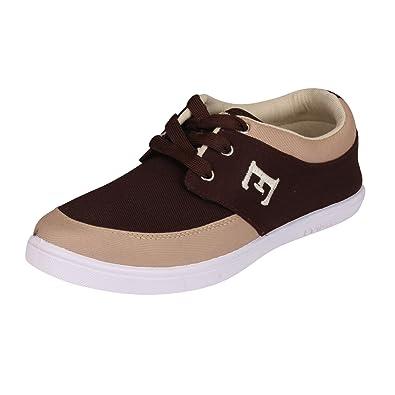 380e4c3e7c Tempo Men's Canvas Zara-6 Brown Casual Shoes: Buy Online at Low ...