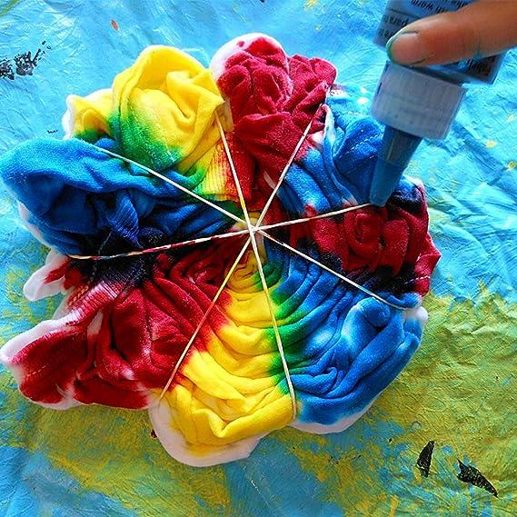 Juego de 18 colores de teñido de corbata, Caloyee Vibrant tela de ...