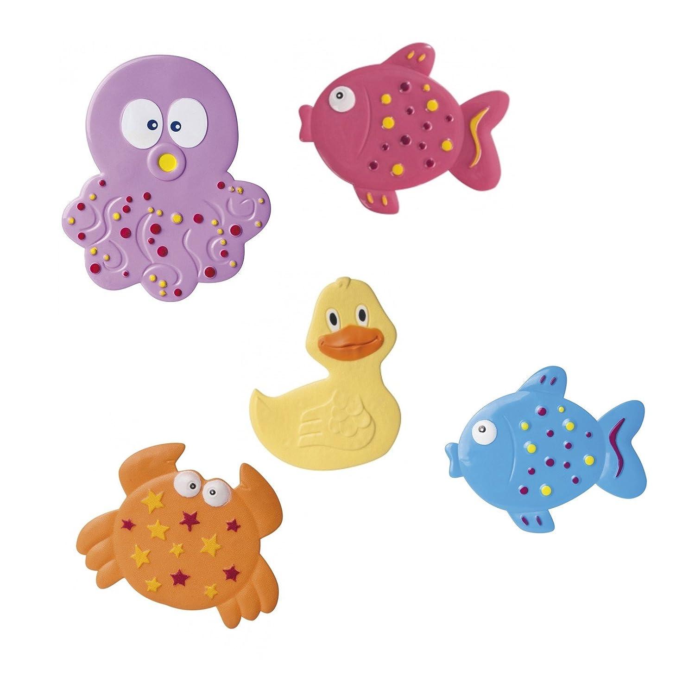 Canpol babies Tapis de baignoire antidé rapant Tapis Set animaux 5 piè ces