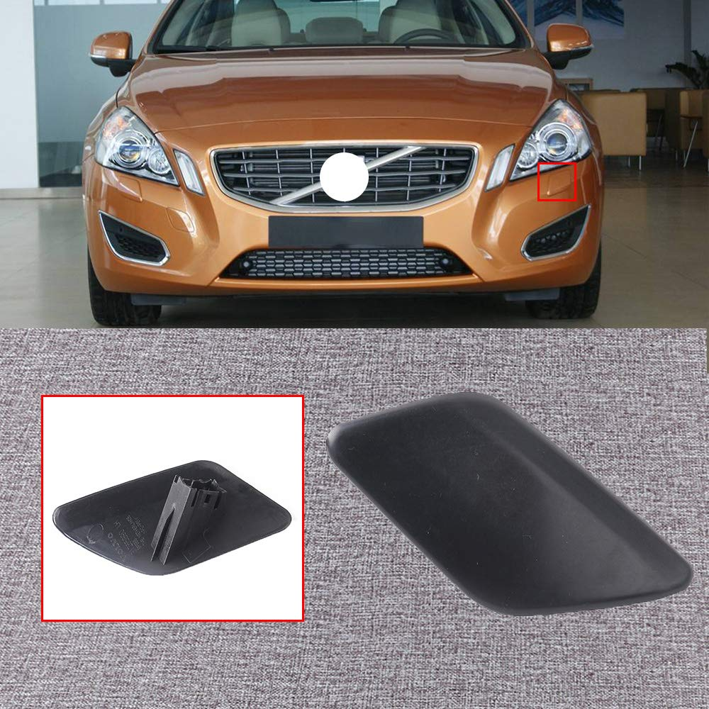 UPSM Front Bumper Headlight Washer Cover Nozzle Cap Left Side Fit for Volvo 2011 2012 2013 S60 Headlamp Cleaning Cover 39802681