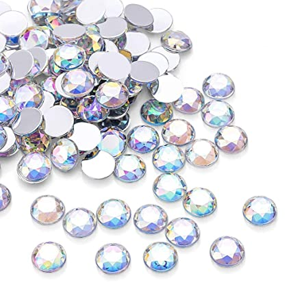 26228488f 1000Pcs Crystal AB Rhinestones, Clear Round Rhinestones for DIY Crafts,  Phone, Nail Art